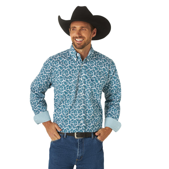 George Strait Paisley Men's Shirt by Wrangler