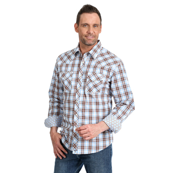 Plaid 20X Competition Men's Shirt by Wrangler