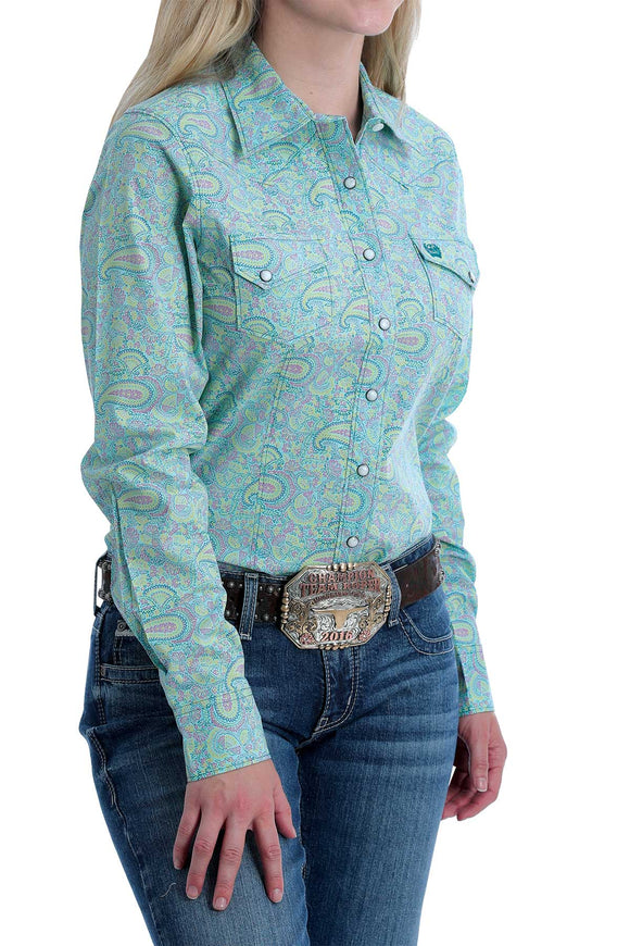 Neon Paisley Women's Shirt by Cinch®