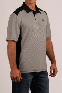 White Short Sleeve Arena Flex Polo Men's T-Shirt by Cinch