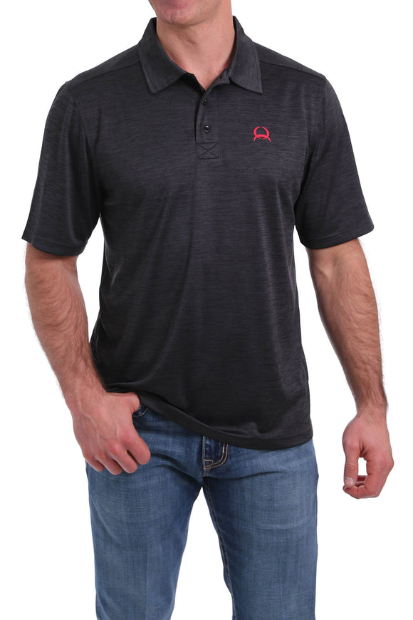 Dark Grey Active Flex Polo Men's T-Shirt by Cinch