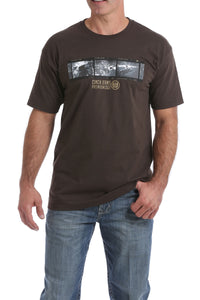 Brown Film Men's T-Shirt by Cinch