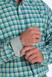 Lime Plaid Men's Shirt by Cinch