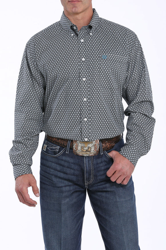 Black Calico Print Men's Shirt by Cinch