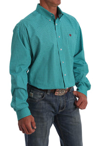 """The Money"" Aqua Men's Shirt by Cinch"