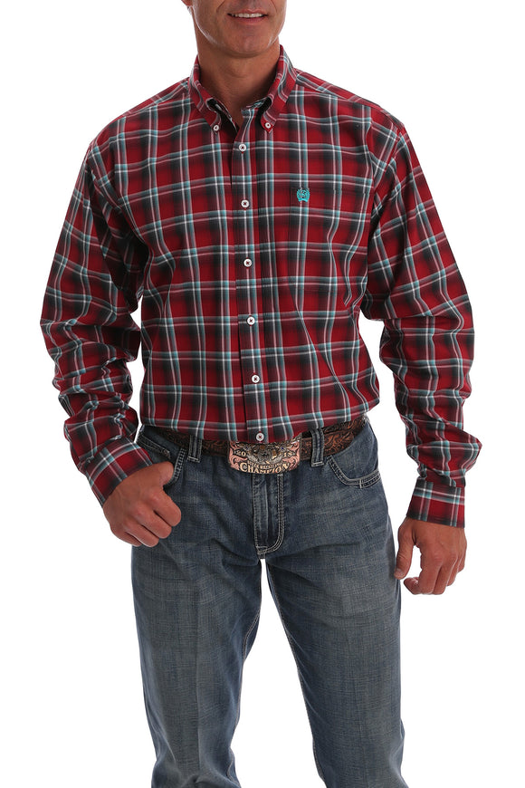 Red Plaid Men's Shirt by Cinch