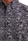 Paisley Eggplant Men's Shirt by Cinch