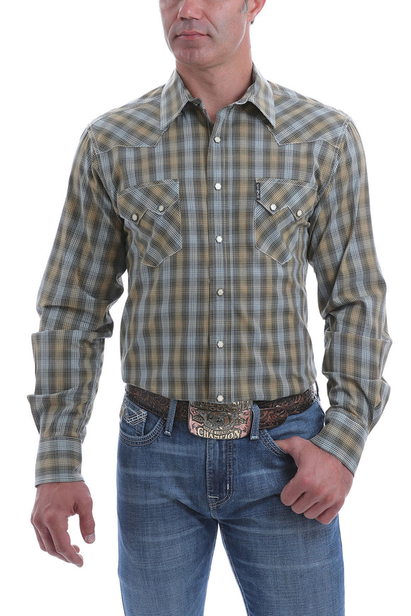 Plaid Modern Fit Men's Shirt by Cinch