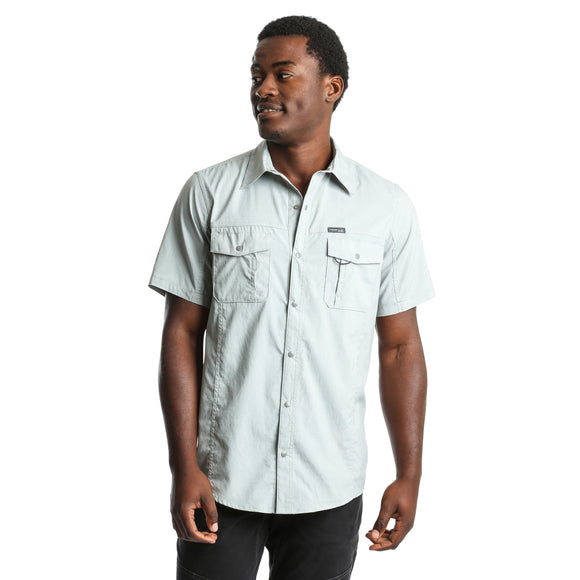 Grey Short Sleeve Men's Shirt by Wrangler