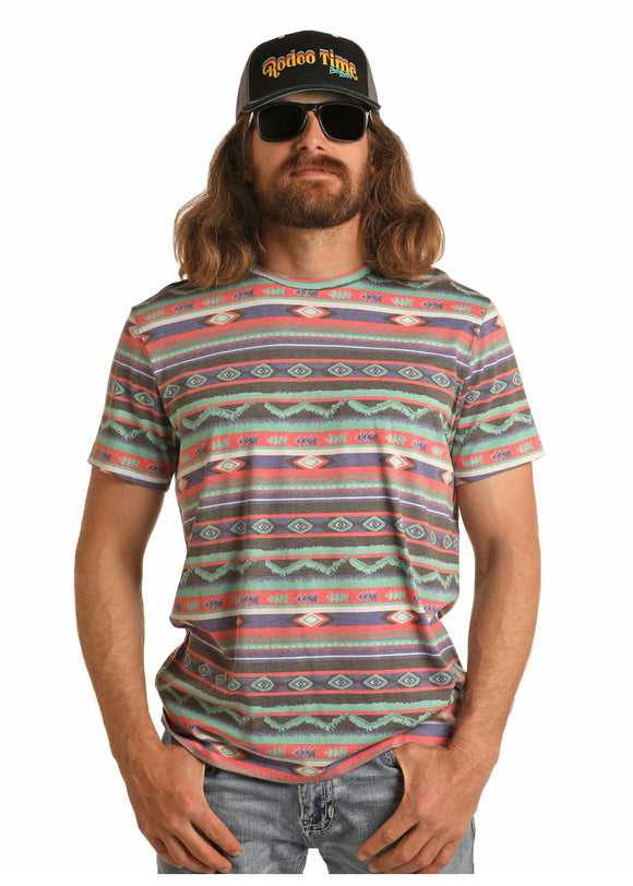Aztec Dale Brisby Men's T-Shirt by Rock and Roll Cowboy