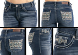 Mid Rise Women's Jean by Rock and Roll Cowgirl