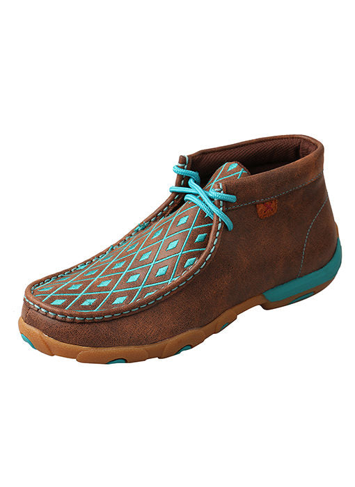 Brown & Turquoise Women's Driving Moc by Twisted X