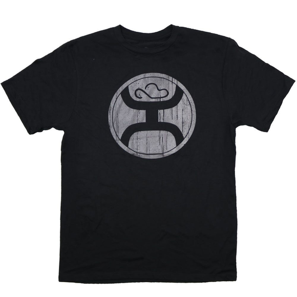 '2.0' Black Reflective Men's T-Shirt by Hooey®
