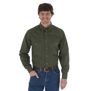 Rugged Button Down Men's Shirt by Wrangler