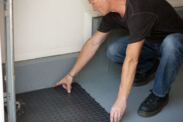 RaceDeck Garage Floor Installation step 2