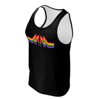 Designer Mens Underwear | Marco Marco | MM Rainbow Tank- Black