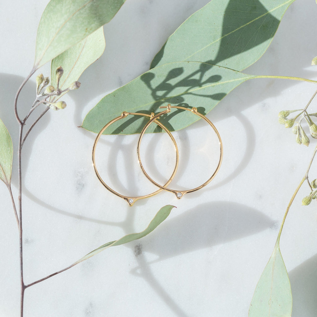 Single Peak Hoop Earrings