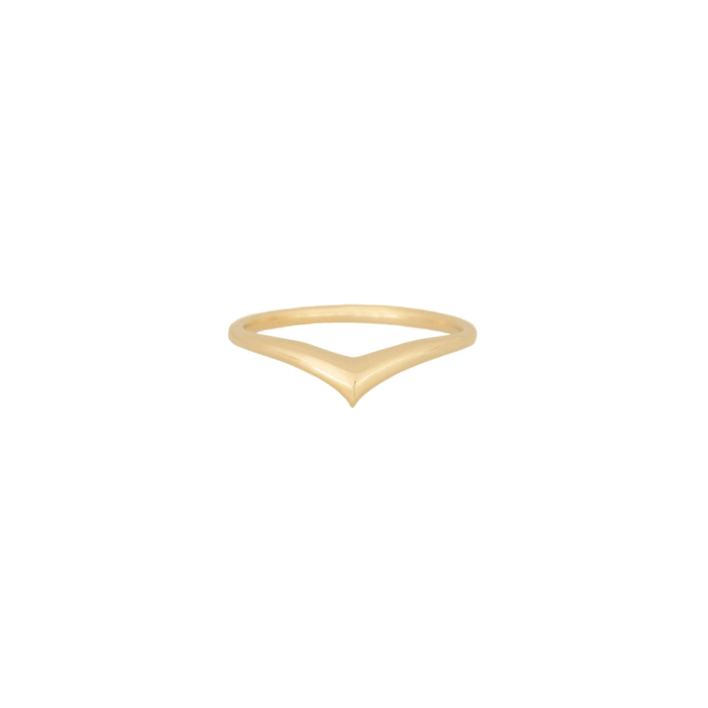 Gold Peak Ring 18k