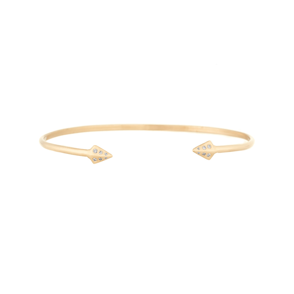 Diamond Mini Double Peak Cuff