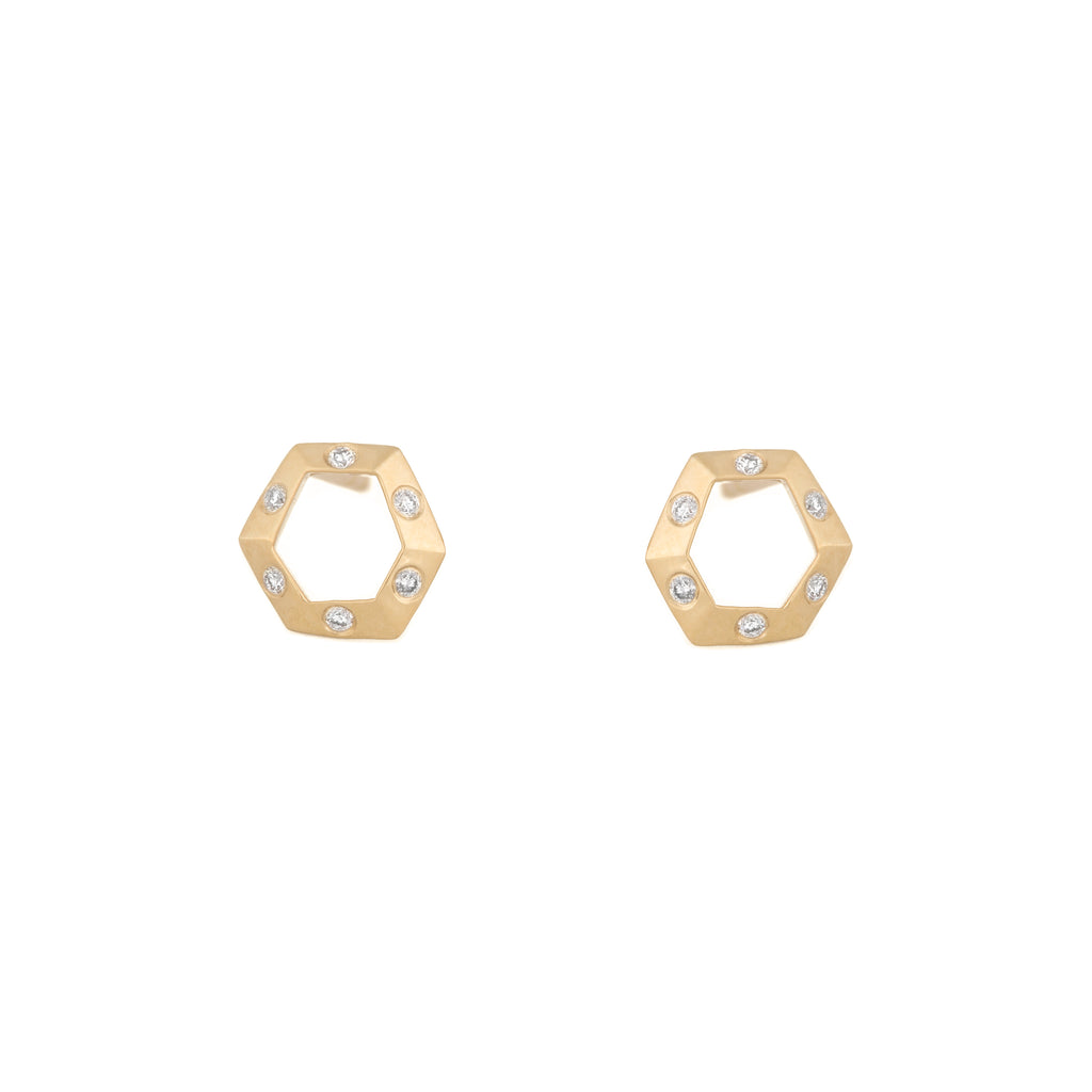 Mini Open Hex Studs