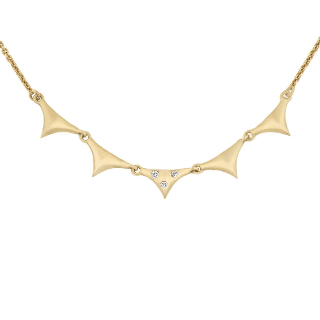5 Peak Banner Necklace in 18k