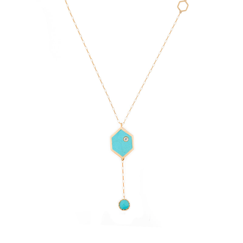 Turquoise Mini Evil Eye on Cable Chain Necklace