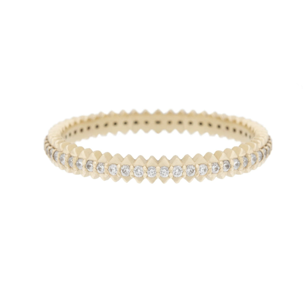 Mini Zip Diamond Eternity Ring in 18K