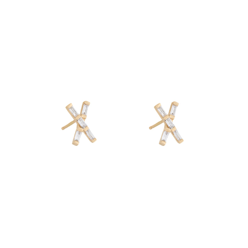 X Marks The Spot Diamond Studs