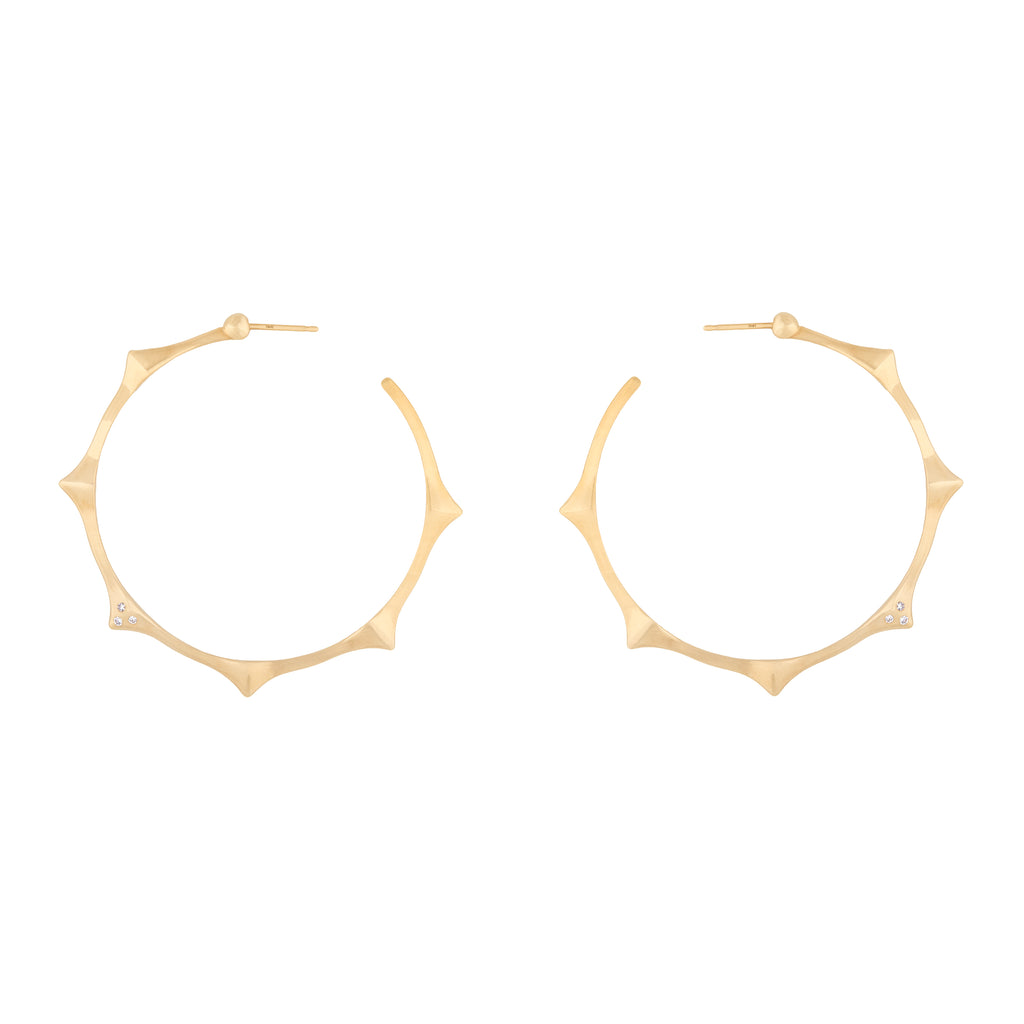 6 Peak Hoop Earrings