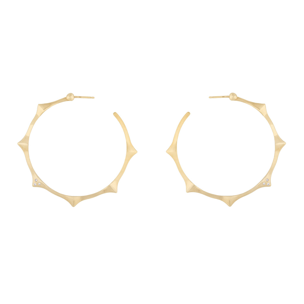 6 Peak Hoops in 18k