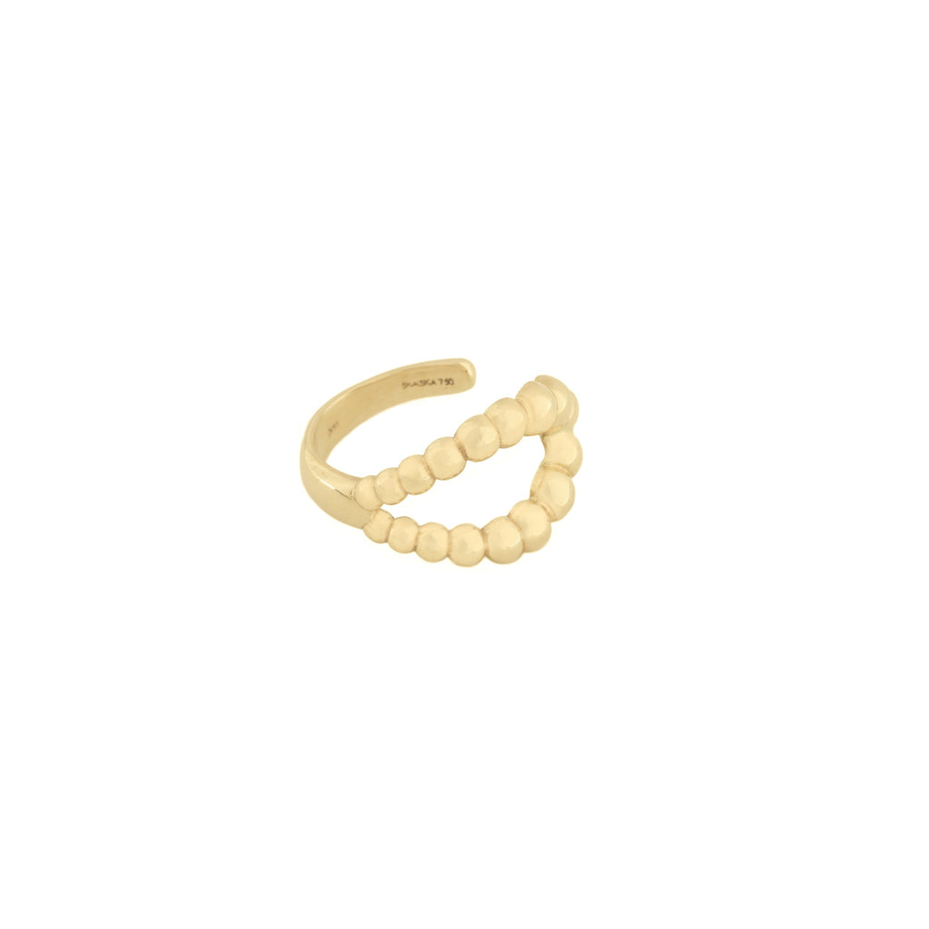 Caviar Loop Ring in 18K