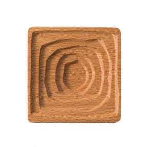 Small wooden tray carved in the style of Wassily Kandinsky's famous painting