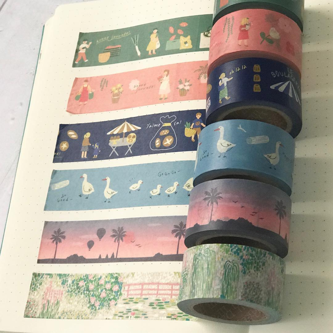 The first wide washi tapes from Dailylike.