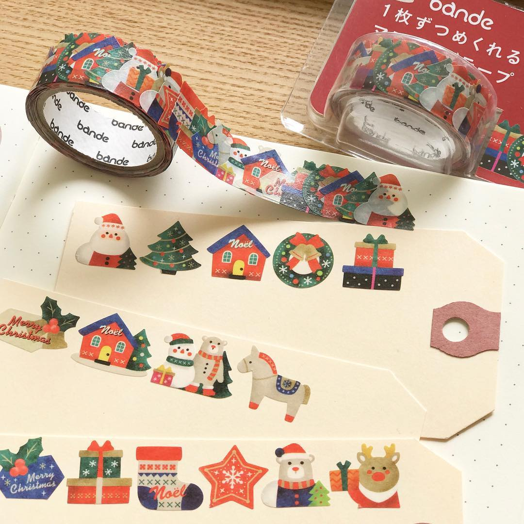 Christmas Bande Washi Roll Sticker