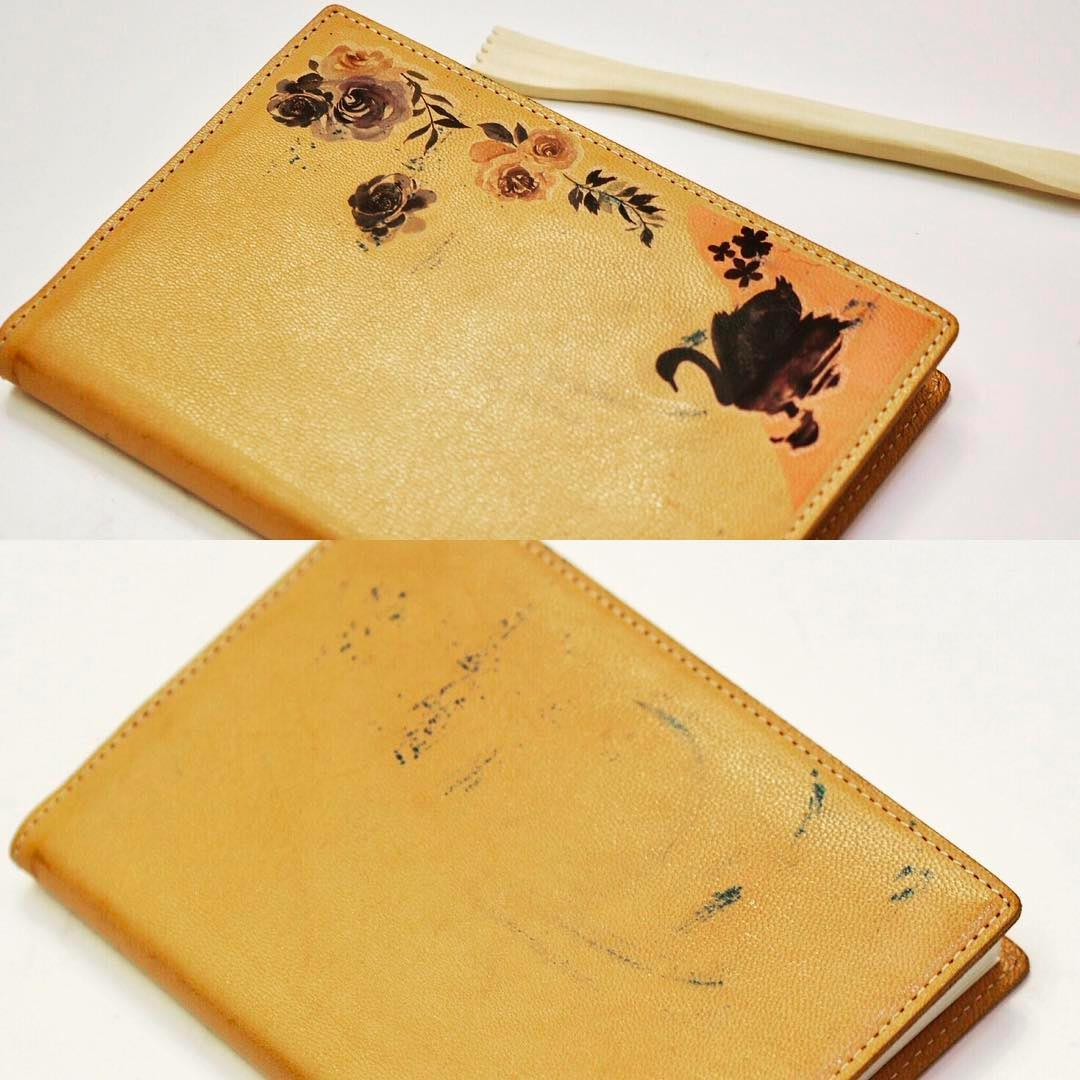 Creative Way to fix a leather book