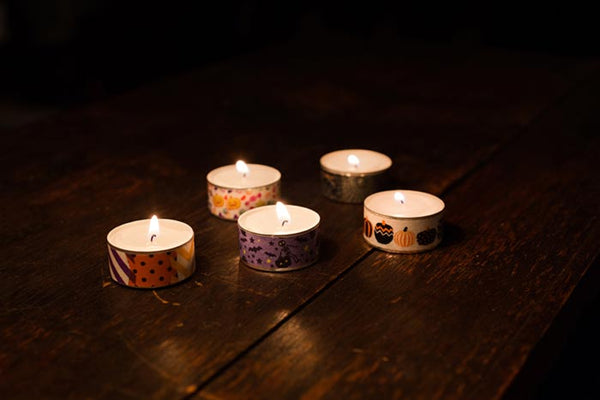 washi tape tea light