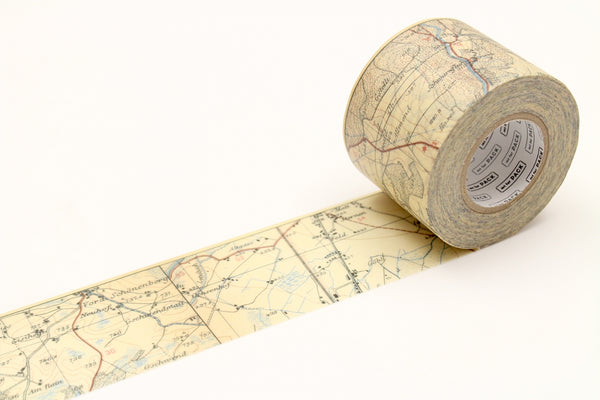 mt for PACK vintage map permanent tape (MTPACK13) | Washi Wednesday