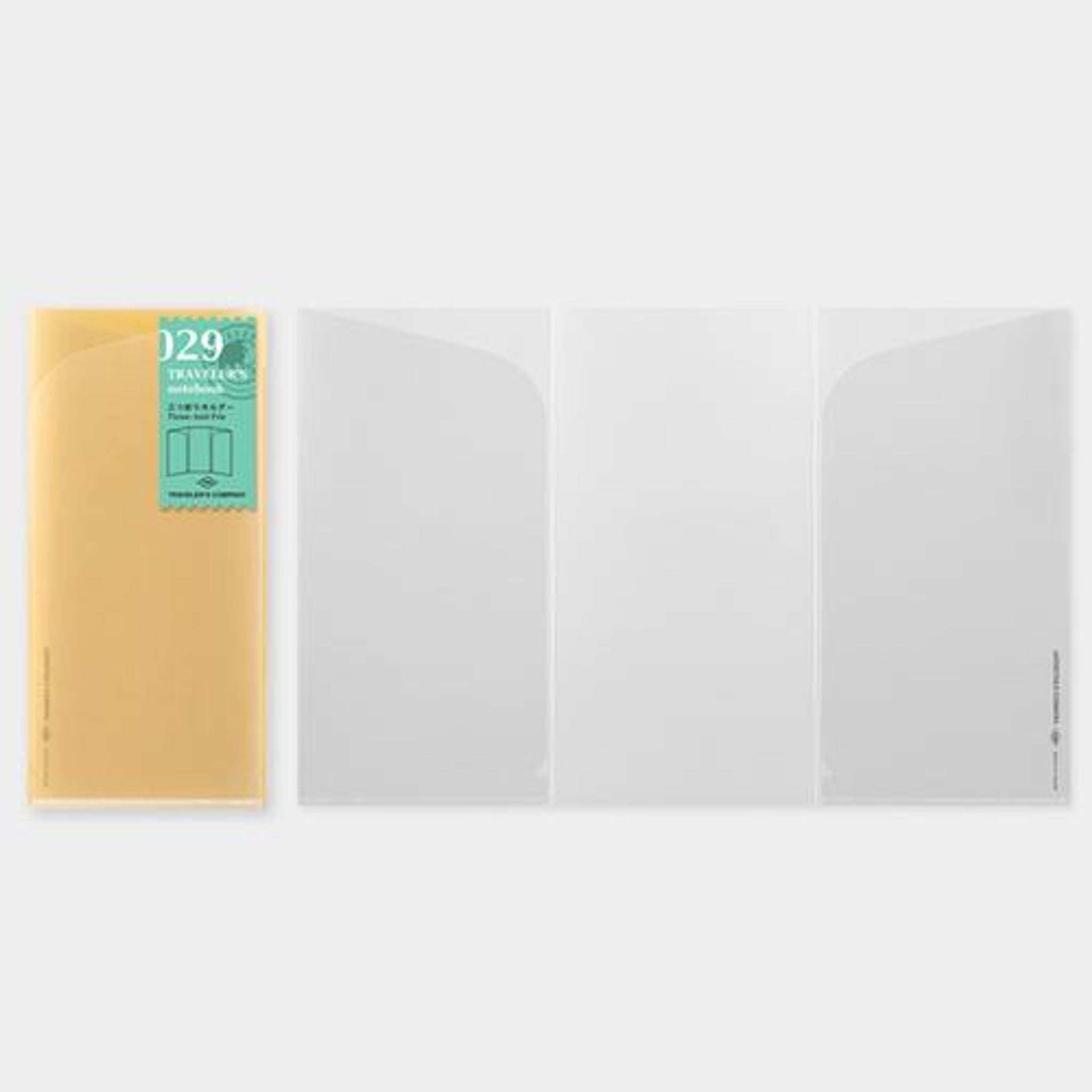 Traveler's Notebook Refill 029 (Regular Size) - Three-fold File