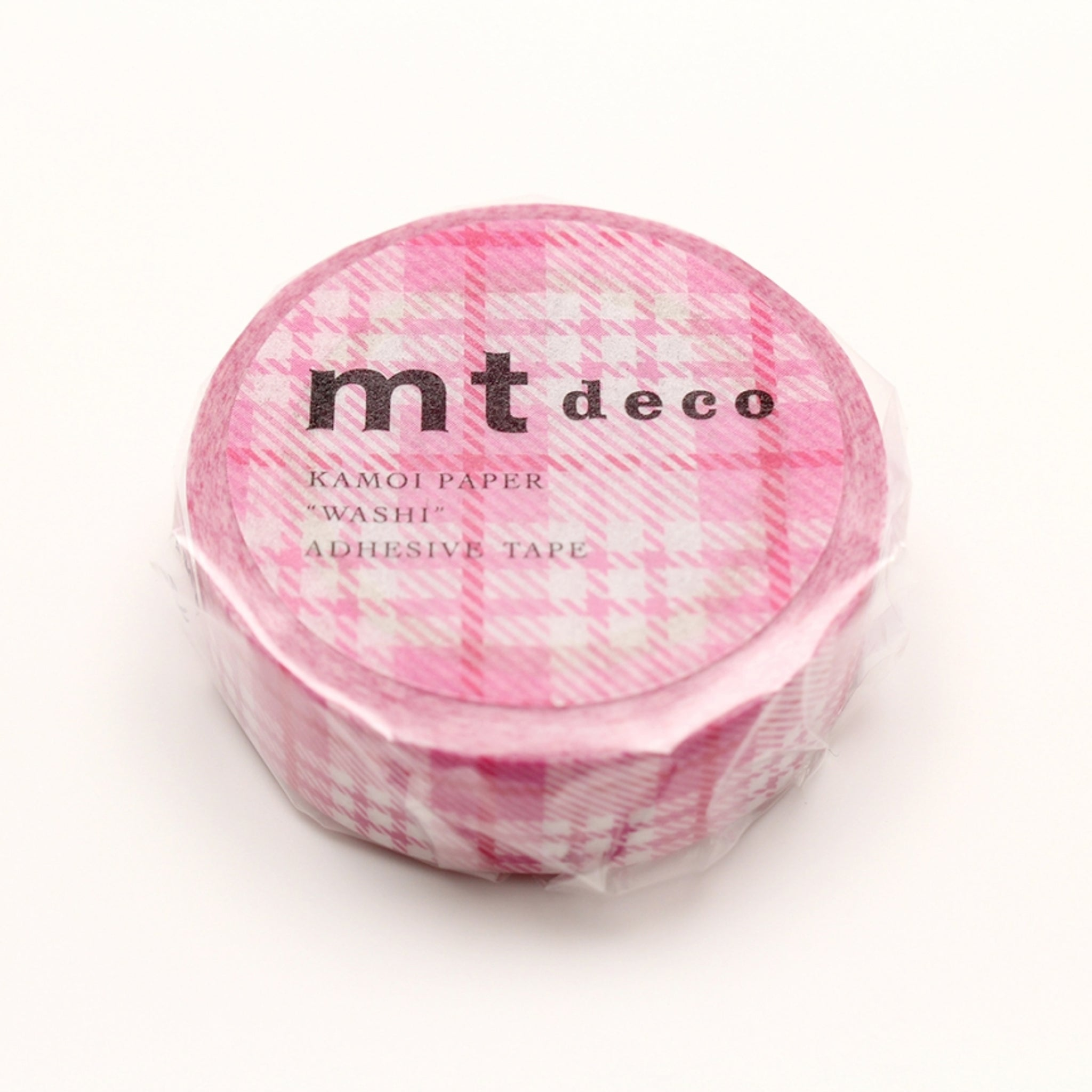 MT Deco Washi Tape Check Light Pink
