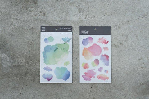 Mu Craft Print-On Sticker Watercolor (Rainbow)