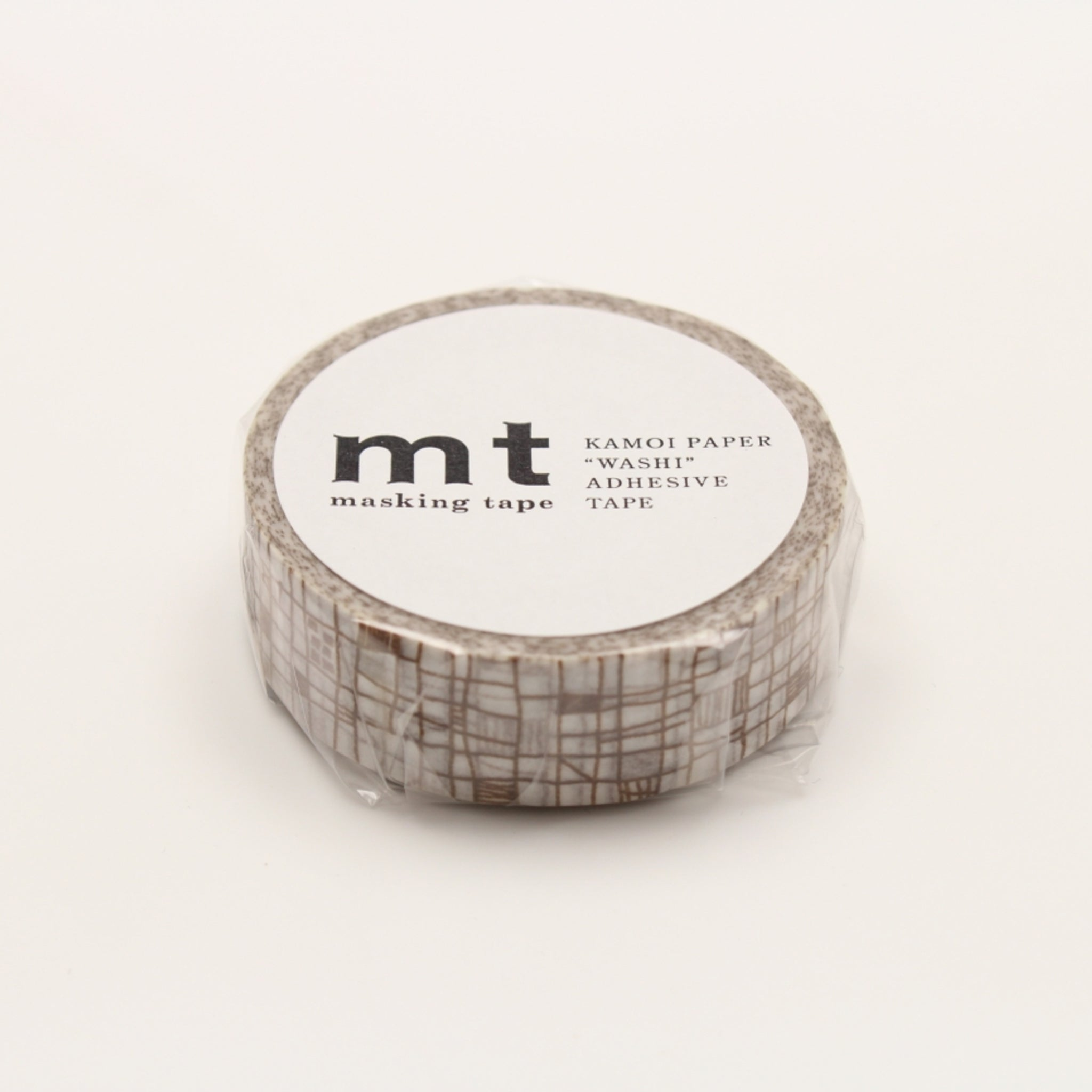 MT Deco Washi Tape Line Brown