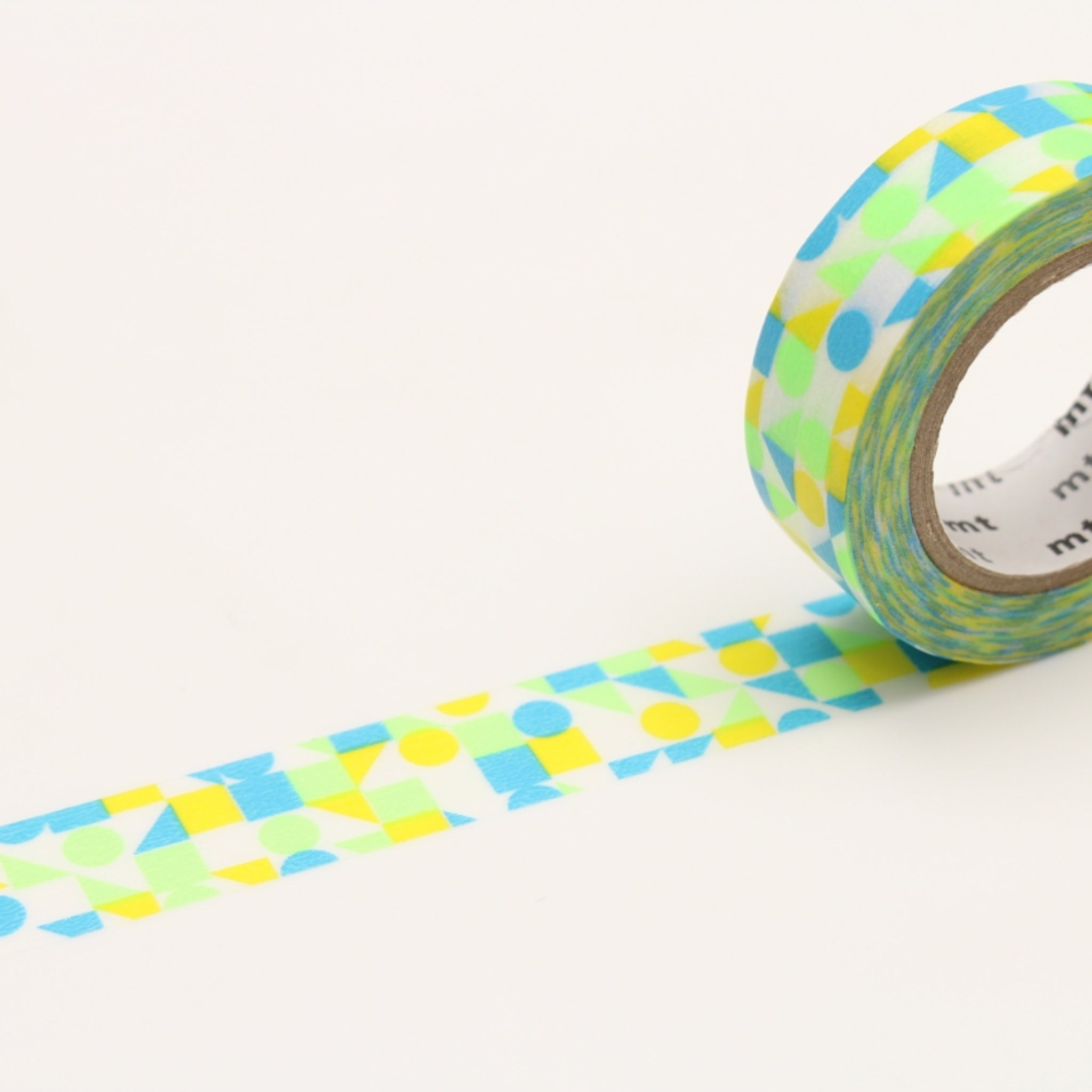 MT Deco Washi Tape Maru Sankaku Shikaku Blue