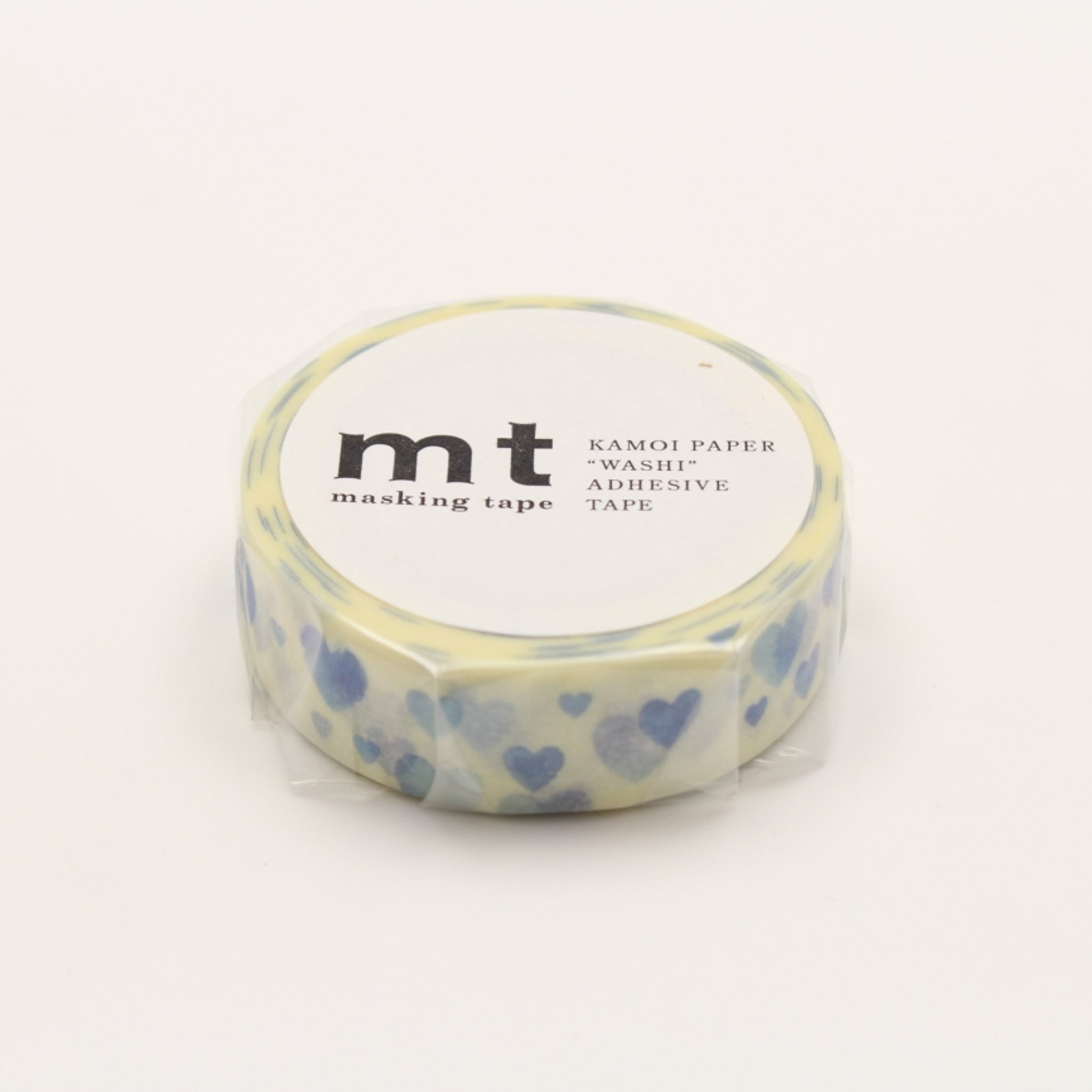 MT Deco Washi Tape Heart Stamp Blue