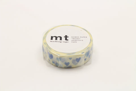 MT Heart Stamp Blue washi tape (MT01D332)