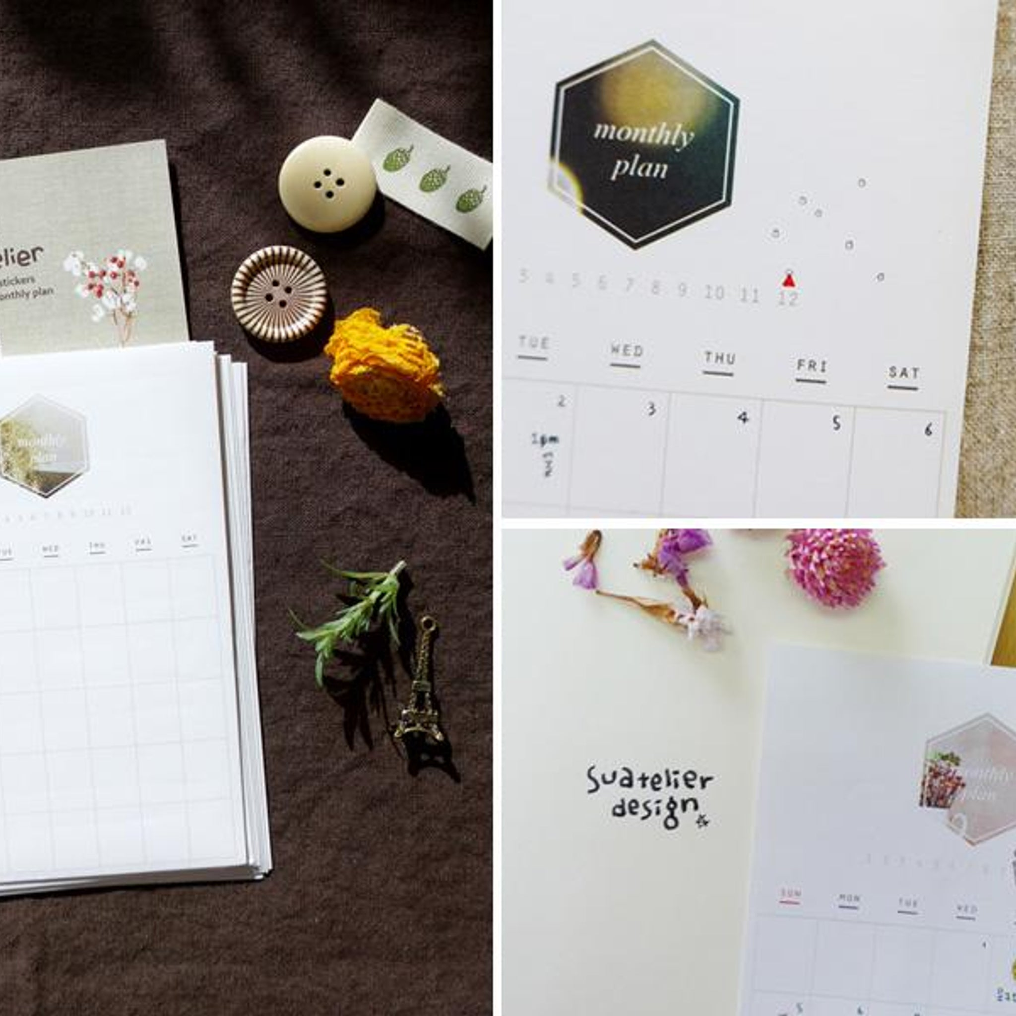 Suatelier Monthly Plan Calender Sticker