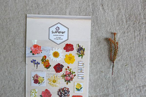 Suatelier Vintage Flower sticker