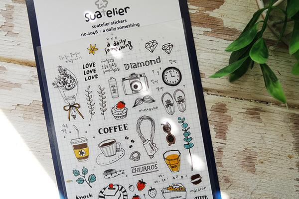 Suatelier A Daily Something sticker (1046) | Washi Wednesday