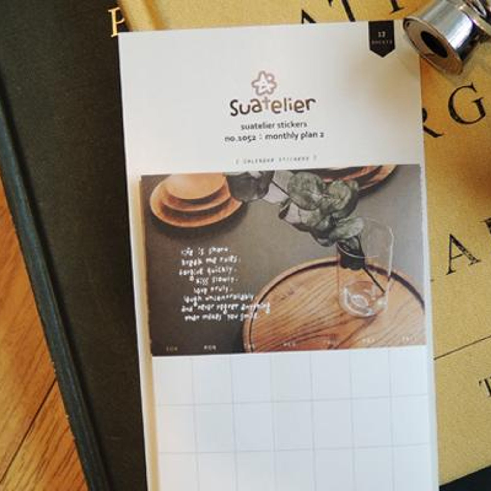 Suatelier Monthly Plan 2 Sticker