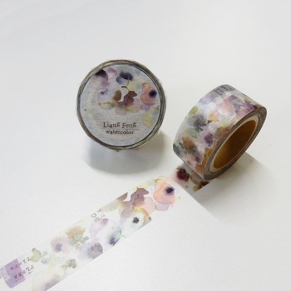 Round Top x Liang Feng Flora (Die-Cut) Watercolor Washi Tape (MTW-LF001) | Washi Wednesday