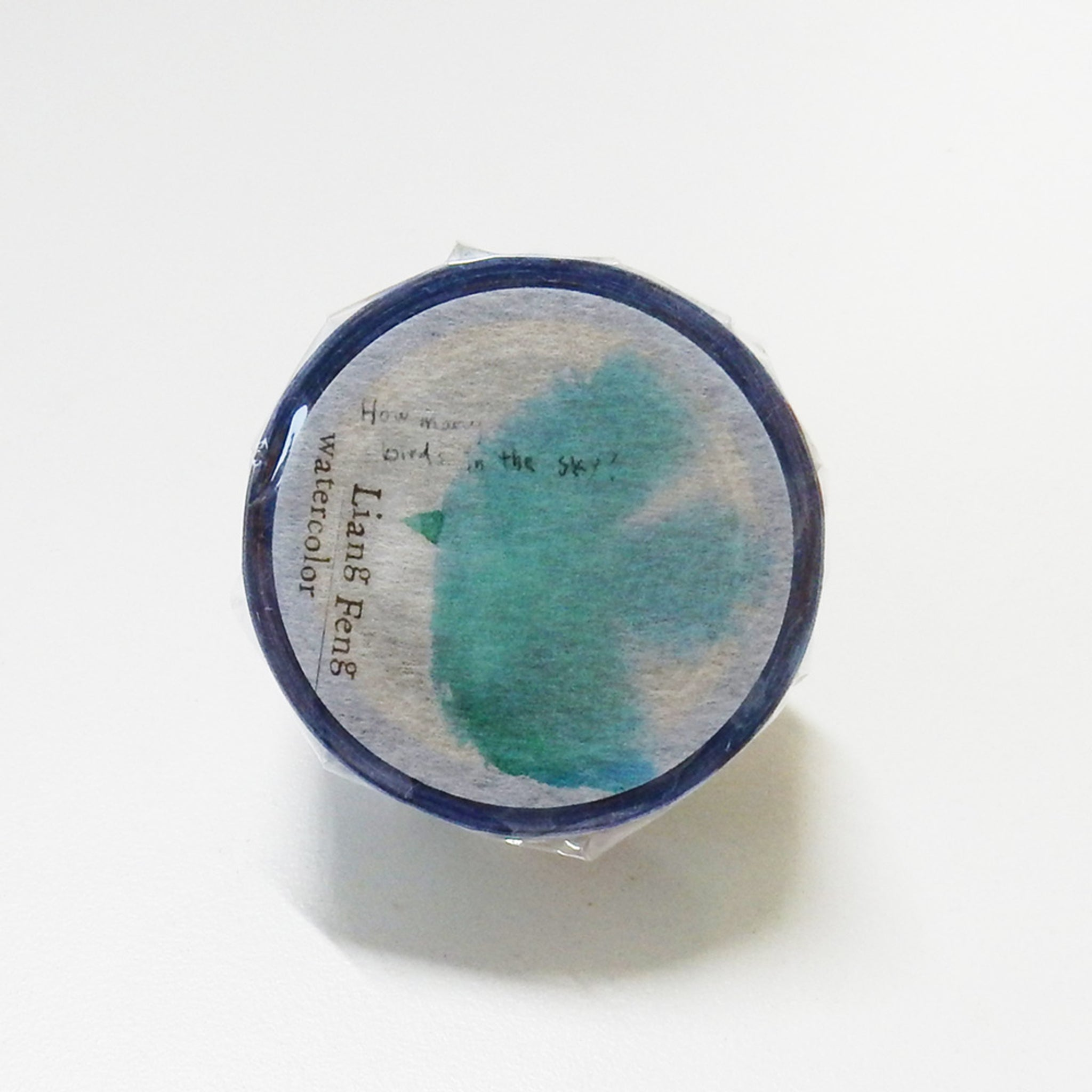 Round Top x Liang Feng Birds (Die-Cut) Watercolor Washi Tape